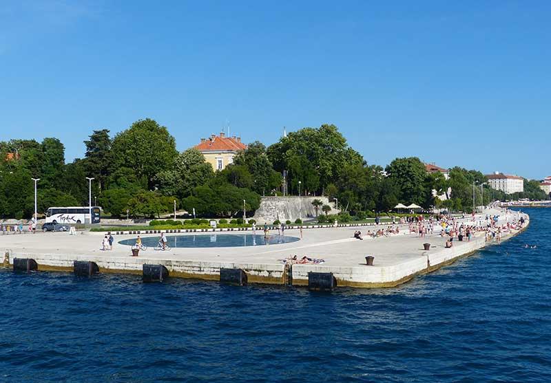 Meeresorgeln in Zadar. Foto: Ronald Keusch