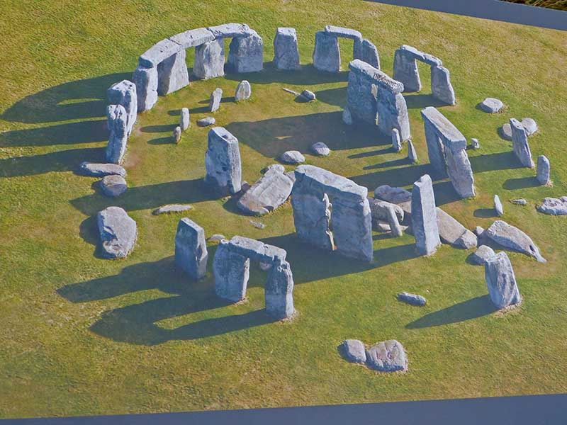 Das Modell des Steinkreises. Foto: Ronald Keusch