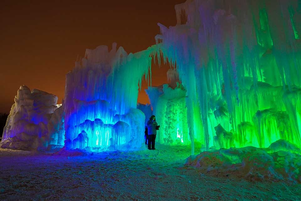 Ice Castles in Midway. Credit: Midway Ice Castles│Utah Office of Tourism